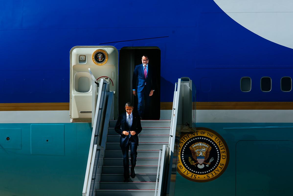 President Barack Obama at the Naval Station Rota - Anabel Vargas Photography